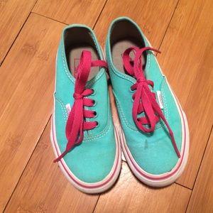 VANS   Teal/Pink/White Sneakers 10.5